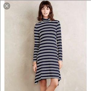 Anthropologie striped swing dress